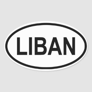 "FOUR Lebanon ""LIBAN"" Oval Sticker"