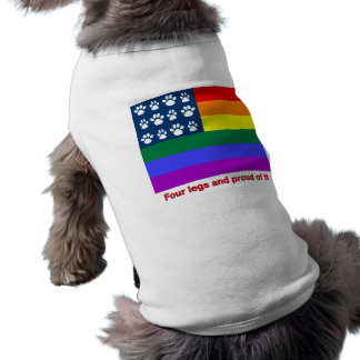 Four Legs and Proud Of It (white paws) Shirt