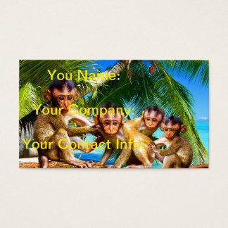 Four Little Monkeys Business Card