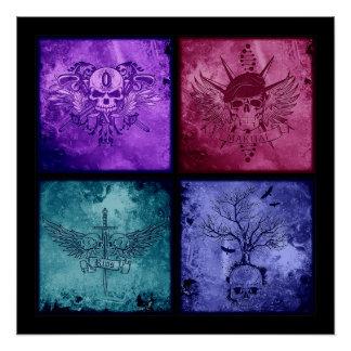 Four Logos Poster