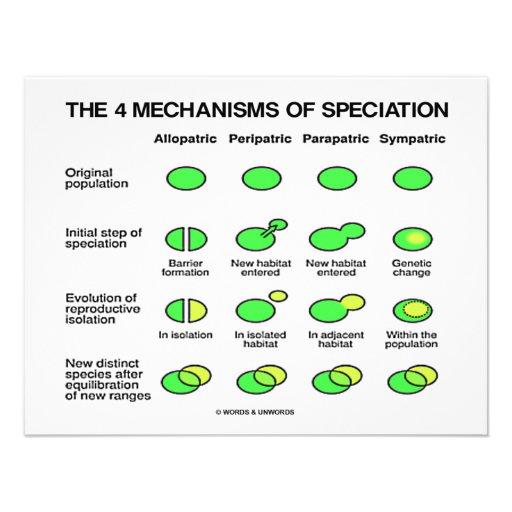 Four Mechanisms Of Speciation (Evolution) | Zazzle