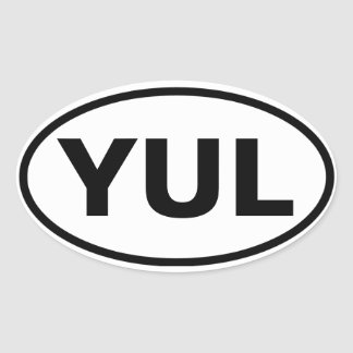 "FOUR Montreal ""YUL"" Oval Sticker"