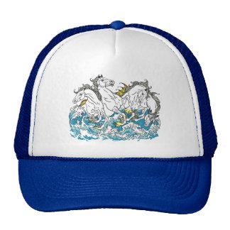 four mythological seahorses trucker hat