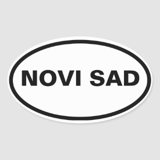 FOUR Novi Sad Oval Sticker