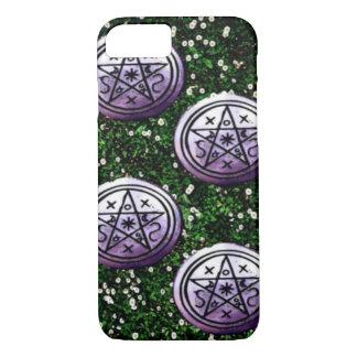 Four of Pentacles Tarot Card iPhone 7 Case