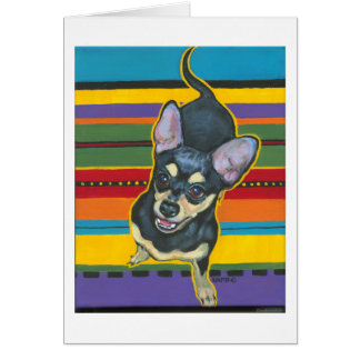 Four on the Floor on a Serape Note Card