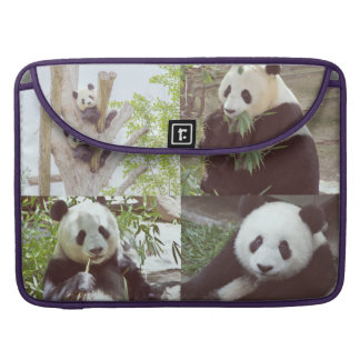 four panda images collage sleeve for MacBook pro
