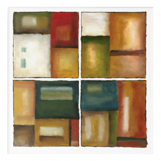 Four Paneled Painting by Jennifer Goldberger Acrylic Print