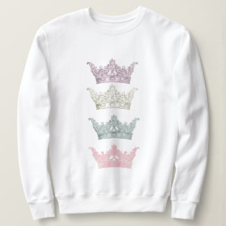 Four Pastel Crowns Sweatshirt