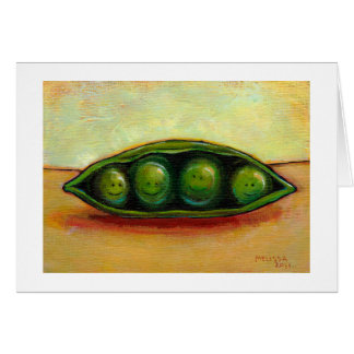 Four peas in a pod fun unique original art card