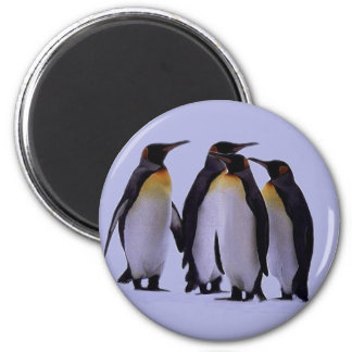 Four Penguins 2 Inch Round Magnet