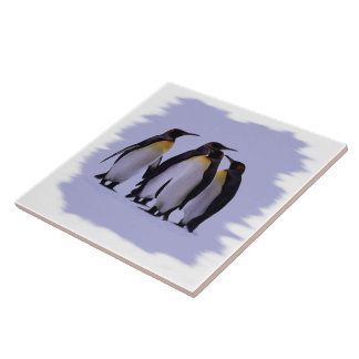 "Four PenguinsTile 6x6"" Tile"