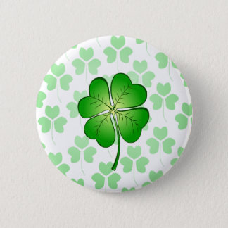 Four petal Clover for Luck 2 Inch Round Button