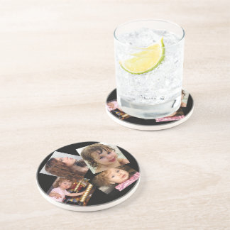 Four Photo Collage Template Drink Coasters