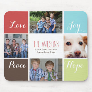 four photos collage mousepads