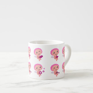 Four Pink Angels with Hearts Expresso Mug