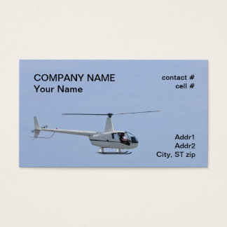 four place light helicopter business card