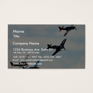 Four Planes Ons Sky Business Card