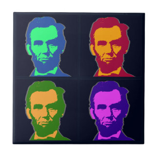 Four Pop Art Abraham Lincolns Tile