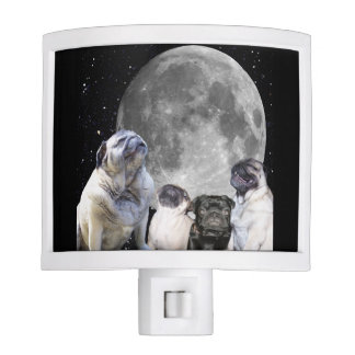 Four Pug Moon Night Light