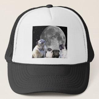 Four Pug Moon Trucker Hat