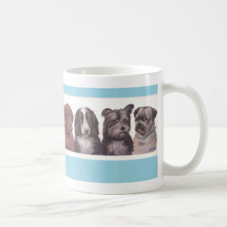 Four Pups Coffee Mug