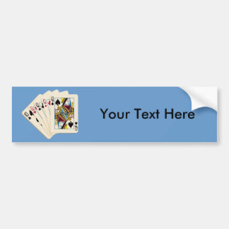 Four Queens - Poker Hand - Play To Win Charms Car Bumper Sticker