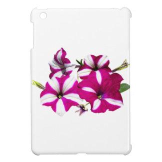 Four Red and White Petunias iPad Mini Cover
