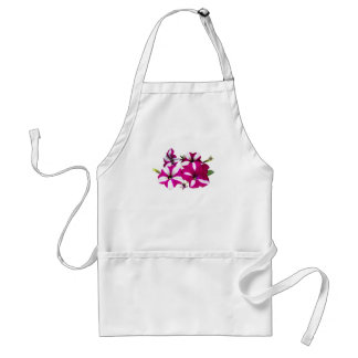 Four Red and White Petunias Standard Apron