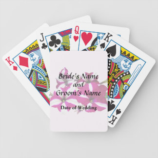 Four Red and White Petunias Wedding Supplies Bicycle Playing Cards