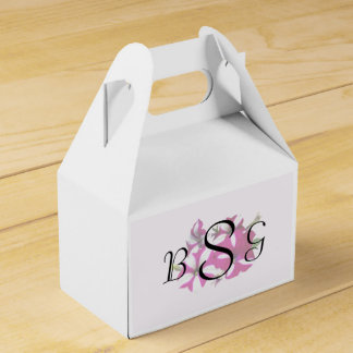 Four Red and White Petunias Wedding Supplies Favor Box