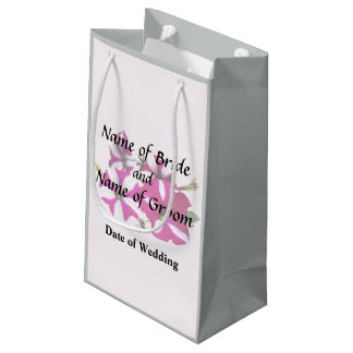 Four Red and White Petunias Wedding Supplies Small Gift Bag