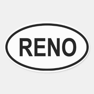FOUR Reno, Nevada Oval Sticker
