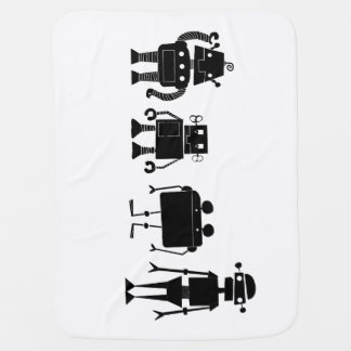Four Robots Baby Blanket