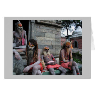 Four Sadhus Card