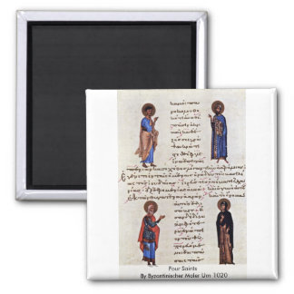 Four Saints By Byzantinischer Maler Um 1020 Magnet