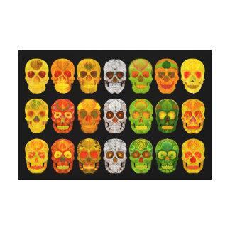Four Seasons Aspen Leaf Skulls Canvas Print