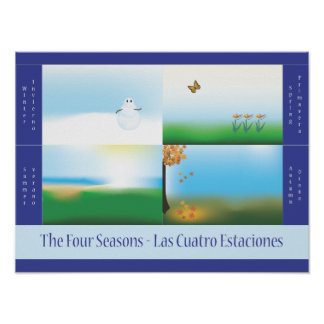 Four Seasons Bilingual School Poster