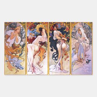 Four Seasons by Alphonse Mucha 1895 Sticker