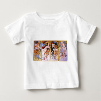 Four Seasons by Alphonse Mucha Baby T-Shirt