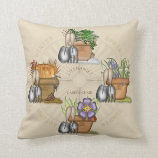 Four Seasons Gardening Throw Pillow