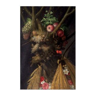 Four Seasons in One Head by Giuseppe Arcimboldo Acrylic Wall Art