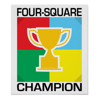 Four-Square Champion Poster