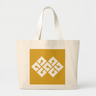 Four squares joining two large tote bag