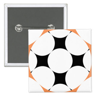 Four Star Circle by Kenneth Yoncich 2 Inch Square Button