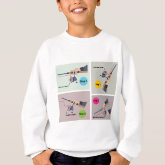 Four Steps to cast spinning rod with spinning reel Sweatshirt