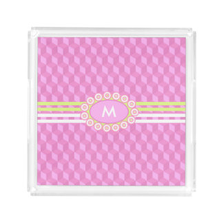 Four Stripes Monogram Pink and Lime ID207 Perfume Tray