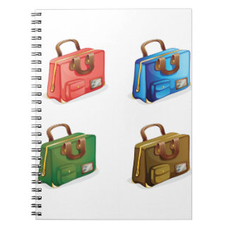 Four Suitcases Spiral Notebook