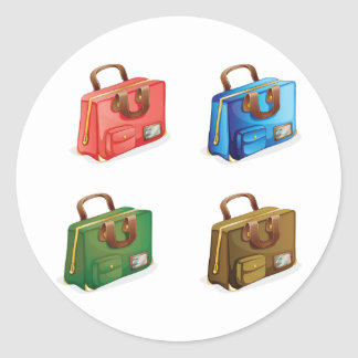 Four Suitcases Stickers