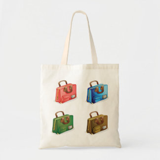 Four Suitcases Tote Bag